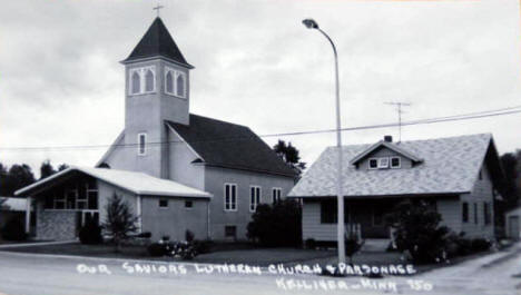 Our Saviors Lutheran Church and Parsonage, Kelliher Minnesota, 1950's?