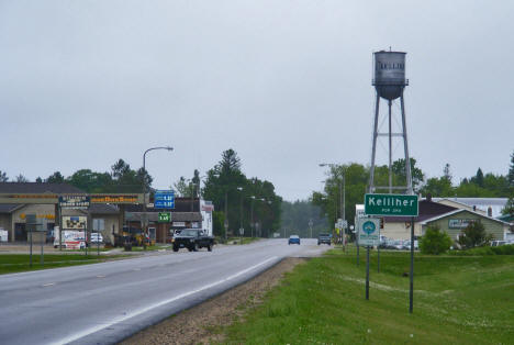 Entering Kelliher Minnesota on State Highway 92 from the south, 2009