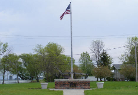 Memorial to local pioneers, Kennedy Minnesota, 2008