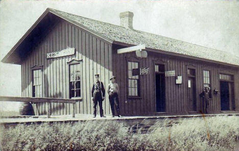 Great Northern Railroad Depot, Kennedy Minnesota, 1910's