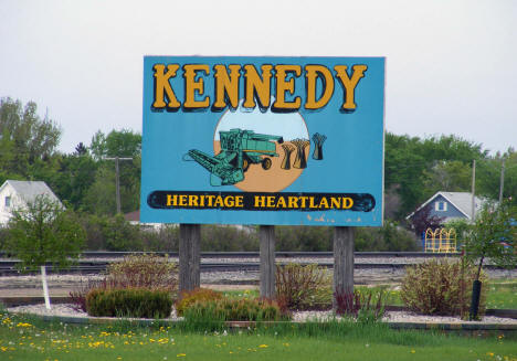 Sign in Kennedy Minnesota, 2008