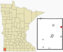 Location of Kenneth, Minnesota