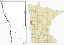 Location of Kent, Minnesota