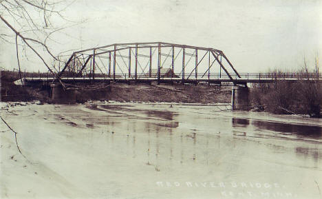 Red River Bridge, Kent Minnesota, 1910's?