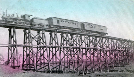 Milwaukee Railroad Bridge, Kenyon Minnesota, 1911
