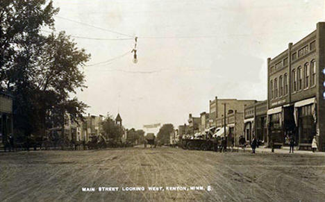 Main Street looking west, Kenyon Minnesota, 1910's