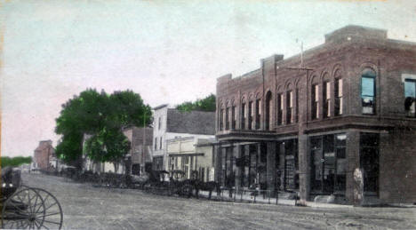 South side of Main Street, Kenyon Minnesota, 1910's