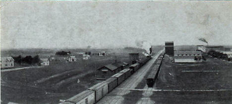 South Side Railway Yard and Depot,  Kerkhoven Minnesota, 1909