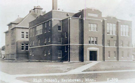 High School, Kerkhoven Minnesota, 1920's