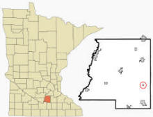 Location of Kilkenny, Minnesota