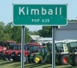 Kimball Minnesota population sign