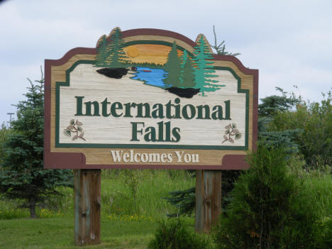 International Falls Welcome Sign on US Highway 71, 2007
