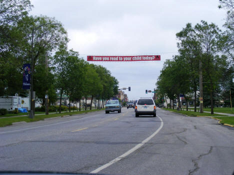 Entering International Falls Minnesota on US Highway, 2007