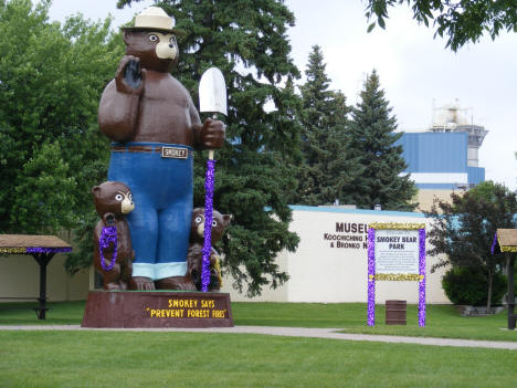 Smokey Bear Park with Koochiching Museum in background, International Falls Minnesota, 2007