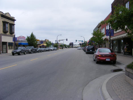 View of 3rd Street in Downtown International Falls Minnesota, 2007