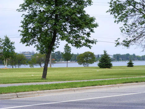View of Rainy River in International Falls Minnesota, 2007