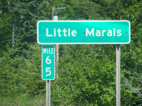 Little Marais Minnesota Highway Sign