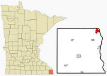 Location of La Crescent, Minnesota