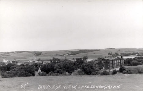 Birds eye view, Lake Benton Minnesota, 1910's