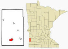 Location of Lake Benton, Minnesota