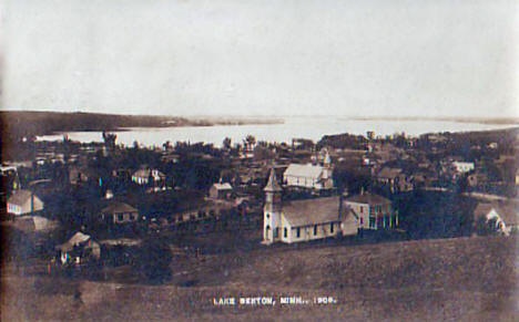 General View of Lake Benton Minnesota, 1908