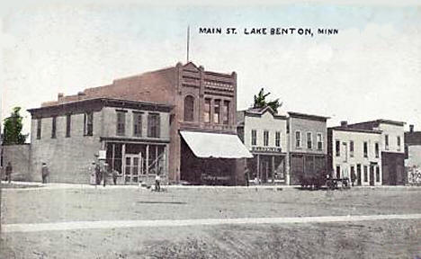 Main Street, Lake Benton Minnesota, 1910