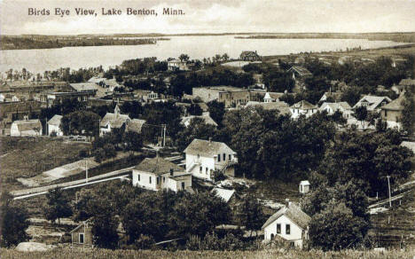 Birds eye view, Lake Benton Minnesota, 1910