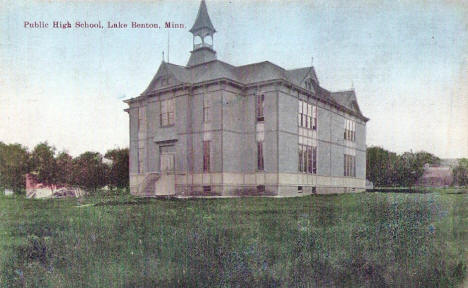 Public High School, Lake Benton Minnesota, 1910's