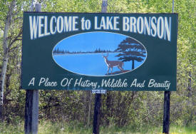 Lake Bronson Minnesota Welcome Sign