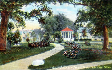 Band Stand and Oaklyn Park, Lake City Minnesota, 1910