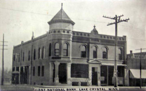First National Bank, Lake Crystal Minnesota, 1912
