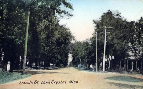 Lincoln Street, Lake Crystal Minnesota, 1912