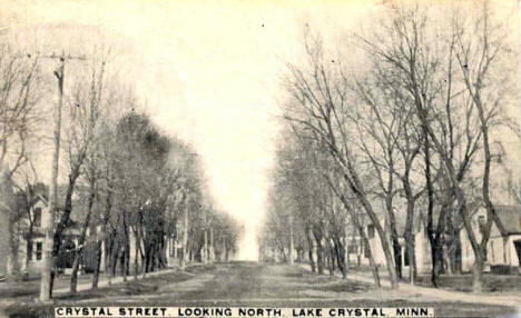 Crystal Street looking north, Lake Crystal Minnesota, 1913