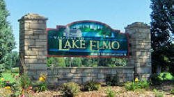 Lake Elmo Minnesota welcome sign