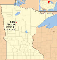 Location of Lake George Township Minnesota