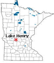 Location of Lake Henry Minnesota