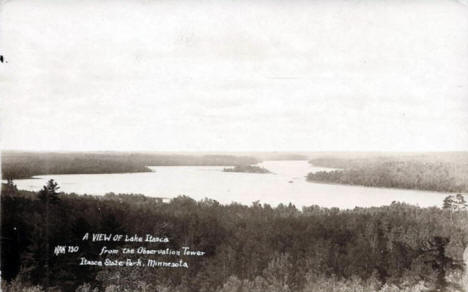 View of Lake Itasca from the Observation Tower, 1929
