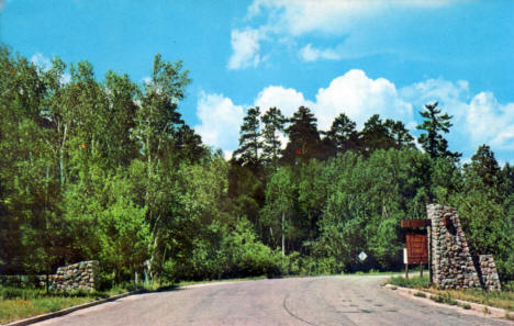 Entrance to Itasca State Park, late 1950's
