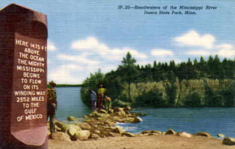 Headwaters of the Mississippi River, Itasca State Park, Minnesota, 1953