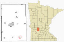 Location of Lake Lillian, Minnesota