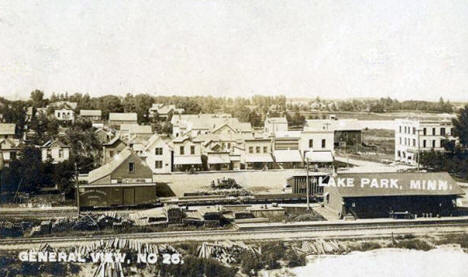 General View, Lake Park Minnesota, 1907