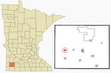 Location of Lake Wilson, Minnesota