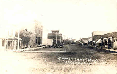 Looking south on Main Street, Lake Wilson Minnesota, 1910's?