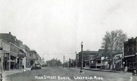 Main Street North, Lakefield Minnesota, 1910's