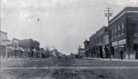 Main Street looking south, Lakefield Minnesota, 1917