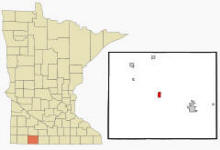 Location of Lakefield, Minnesota