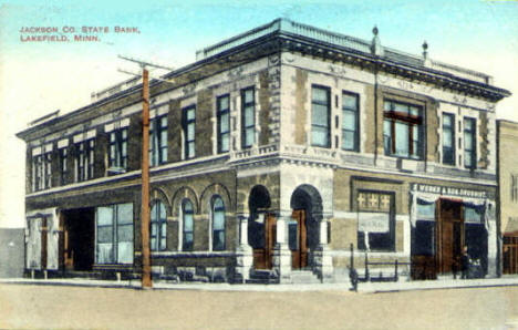 Jackson County State Bank, Lakefield Minnesota, 1913
