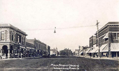 Main Street North, Lakefield Minnesota, 1914