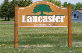 Lancaster Minnesota Welcome Sign