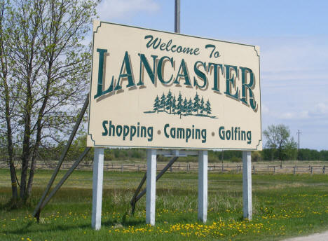 Welcome Sign, Lancaster Minnesota, 2008